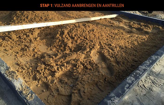 stap-1-vulzand-aanbrengen-en-aantrillen